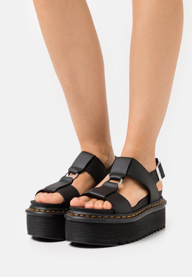 Dr. Martens - FRANCIS - Platform sandals - black hydro