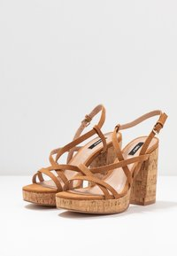 ONLY SHOES - ONLAERIN  - High heeled sandals - cognac - 4