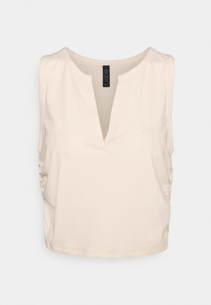 V-NECK TANK  - Topper - buttermilk