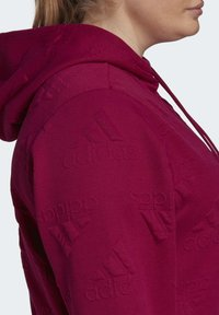 adidas Performance - AEROREADY JACQUARD FULL-ZIP LOGO HOODIE (PLUS SIZE) - Sudadera con cremallera - purple - 6