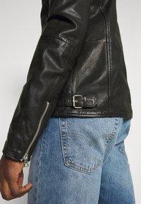 Goosecraft - BERLINER BIKER - Leather jacket - black - 4