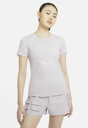 Print T-shirt - iced lilac