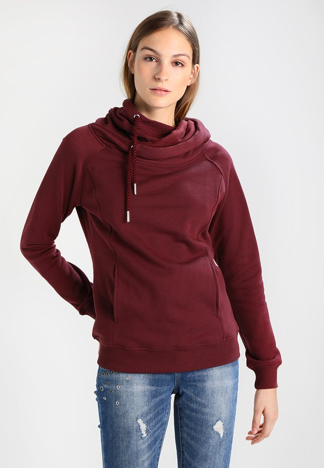 RAGLAN HIGH NECK  - Sweat à capuche - cherry