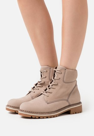 BOOTS - Lace-up ankle boots - mushroom