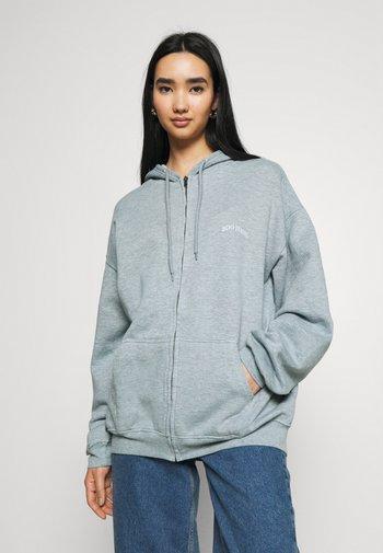 ZIP THROUGH HOODIE - Zip-up hoodie - blue