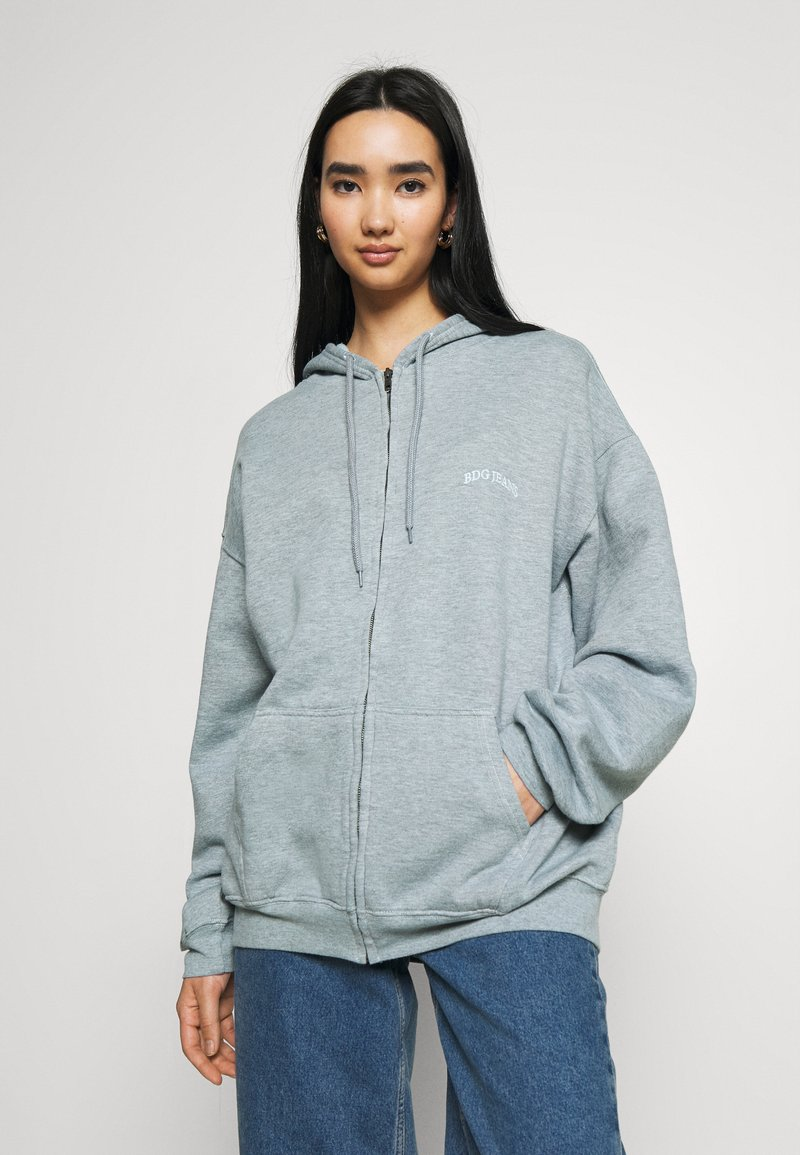 BDG Urban Outfitters - ZIP THROUGH HOODIE - Hettejakke - blue