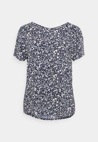 TOM TAILOR DENIM - FEMININE WITH ZIPPER - Camiseta estampada - blue - 0