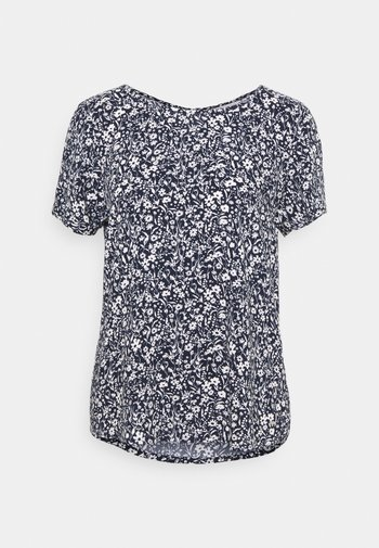 FEMININE WITH ZIPPER - Print T-shirt - blue