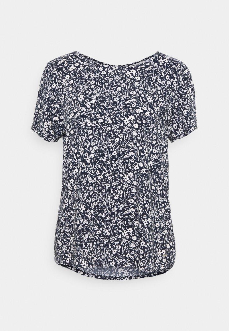 TOM TAILOR DENIM - FEMININE WITH ZIPPER - Camiseta estampada - blue