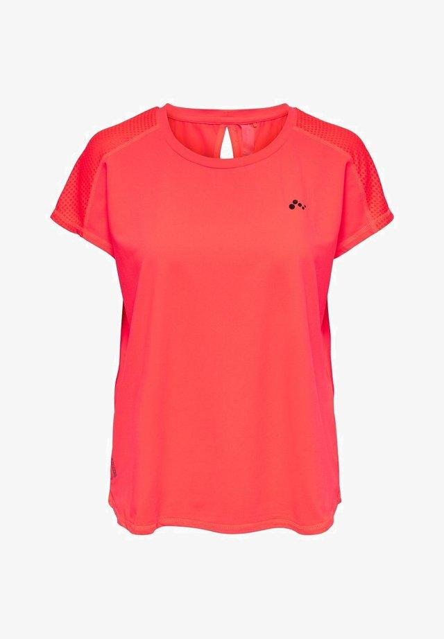 Camiseta básica - fiery coral