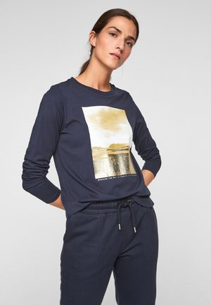 MIT WORDING - Long sleeved top - navy placed print