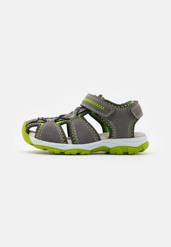 LEATHER - Walking sandals - dark grey