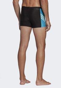 adidas Performance - FITNESS THREE-SECOND SWIM BRIEFS - Swimming trunks - black - 1