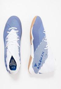 adidas Performance - NEMEZIZ 19.3 IN - Halové fotbalové kopačky - footwear white/royal blue - 1