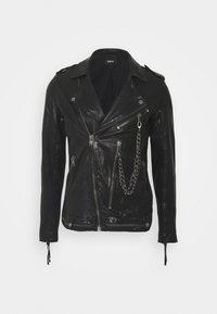 DELANE - Leather jacket - black