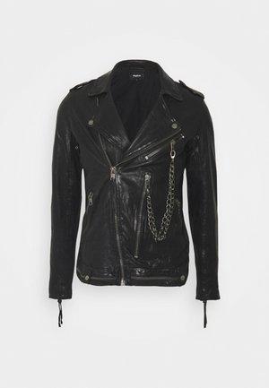 DELANE - Veste en cuir - black