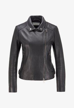 SAJUANA - Leather jacket - black