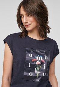 s.Oliver - Print T-shirt - navy - 3