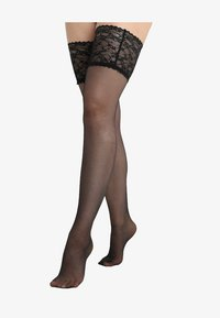 Max Mara Hosiery - VIENNA STAY UPS - Over-the-knee socks - nero