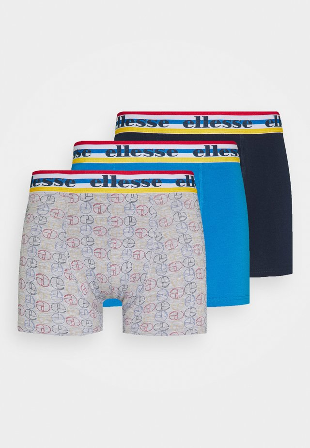 MENS PRINTED STRIPED 3 PACK - Pants - blue/grey