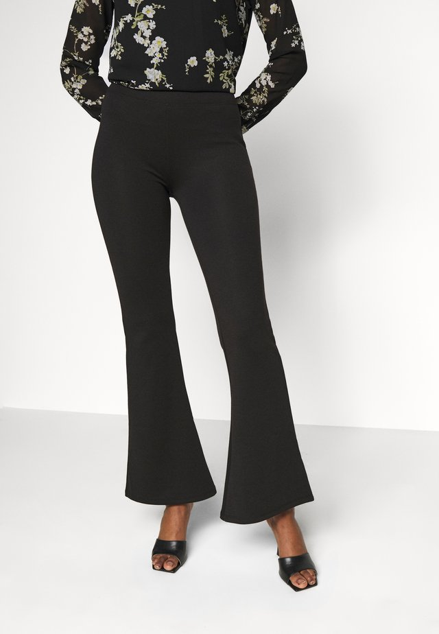ONLFEVER FLAIRED PANTS - Broek - black
