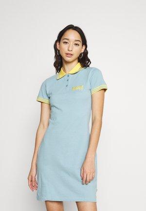 INSIGHT DRESS - Shirt dress - blue/yellow