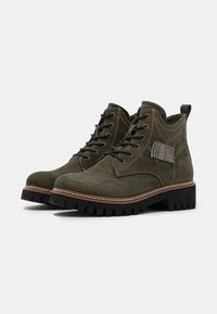 Rieker - Lace-up ankle boots - tanne/grau/rost - 2