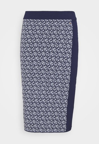 CUBE KNEE LENGTH SKIRT - Pencil skirt - yale navy/breezy blue