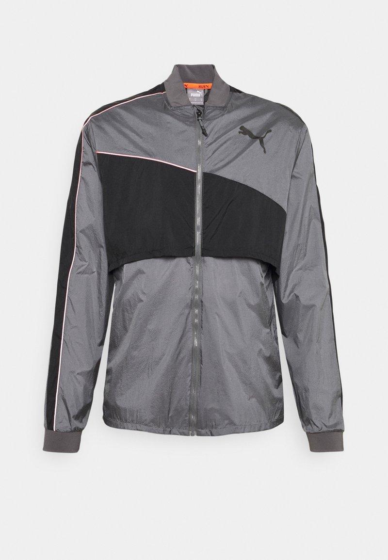 Puma - RUN LAUNCH ULTRA JACKET - Sports jacket - castlerock grey dawn