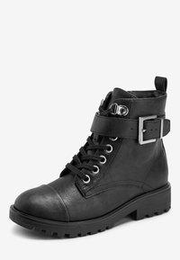 Next - Šněrovací kotníkové boty - black - 2