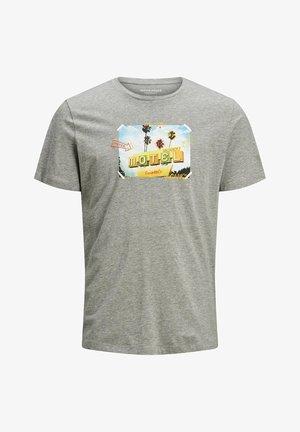 JORLUCIANO  - T-shirt imprimé - light grey melange