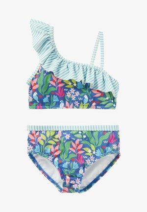 SET - Bikini - venedig-blau tropischer garten