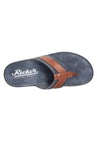Rieker - MODISCHE PANTOLETTE - T-bar sandals - peanutnavy (24) - 7