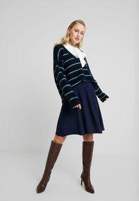 Anna Field - BASIC - A-line skirt - maritime blue - 1
