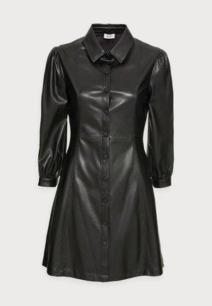 ABITO SPALMATO - Shirt dress - nero