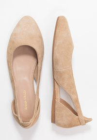 Anna Field Wide Fit - LEATHER BALLERINAS - Bailarinas - beige - 3