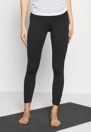 YOGA RUCHE 7/8 - Tights - black/smoke grey