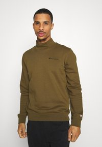 Champion - LEGACY MOCK TURTLE NECK LONG SLEEVES - Sweatshirt - olive - 0