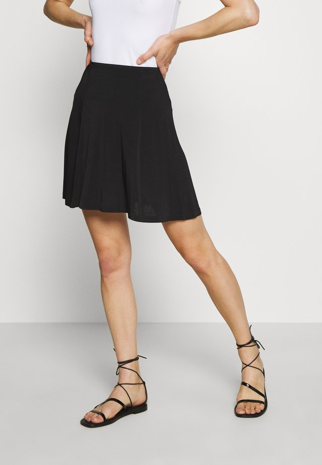 CORNEA SHORT SKIRT - Jupe trapèze - black