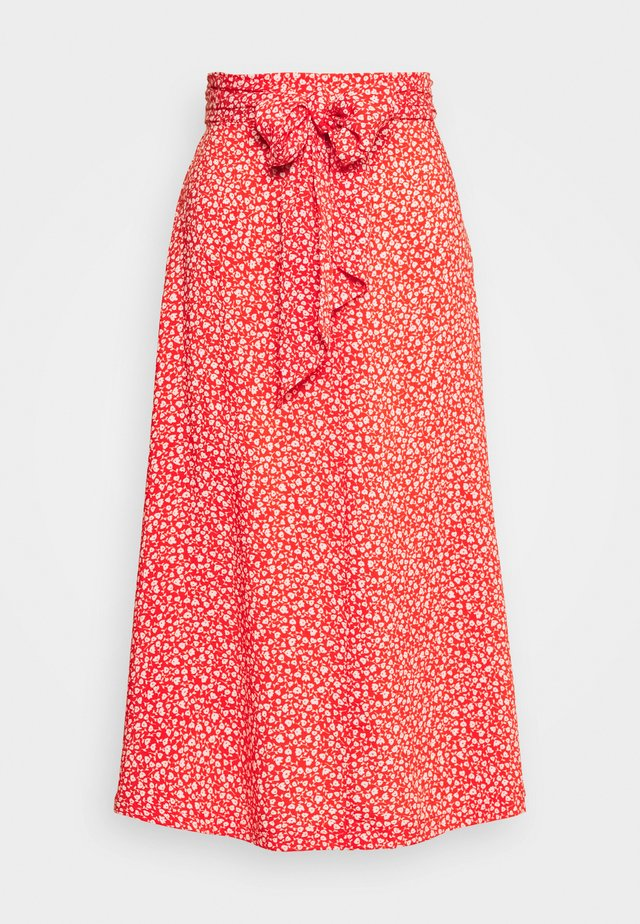 SISSEL SKIRT - A-line skjørt - red bright