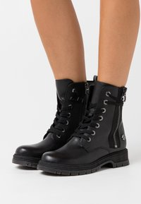 Marco Tozzi - Lace-up ankle boots - black antic - 0