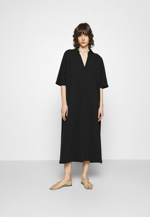 POLO DRESS - Maxi dress - black