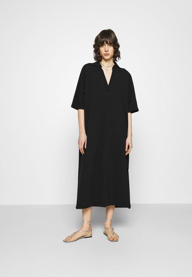 POLO DRESS - Maxi dress - black