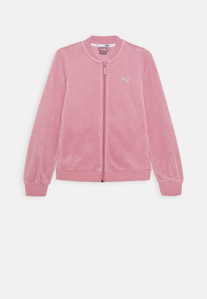 Puma - ALPHA VELVET FULL-ZIP - Zip-up hoodie - foxglove