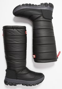 Hunter ORIGINAL - WOMEN'S ORIGINAL INSULATED TALL - Zimní obuv - black - 3