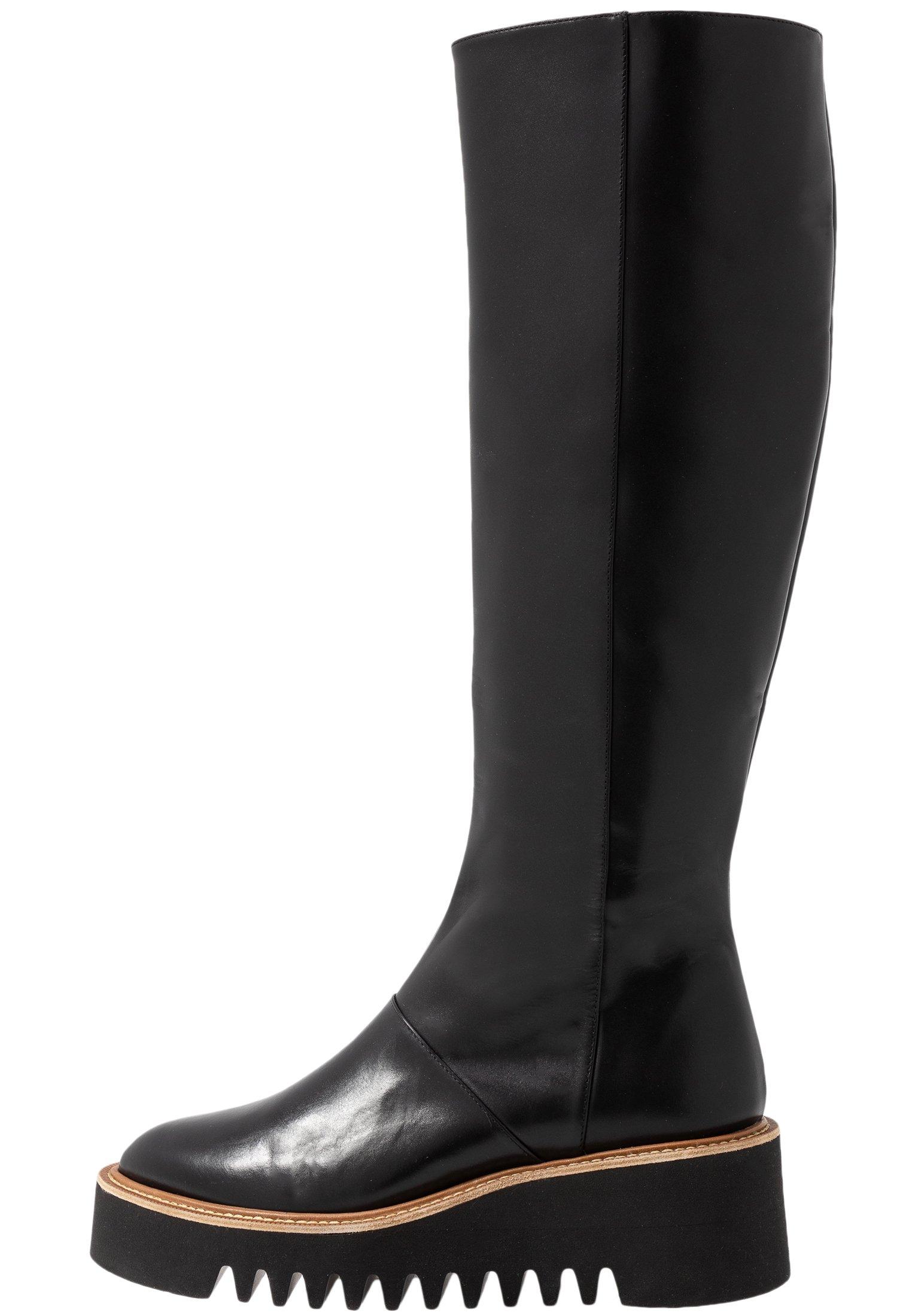 BRIANA Laarzen met sleehak black