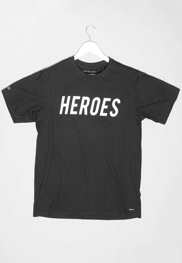 'HEROES' NHS CHARITY - Print T-shirt - black