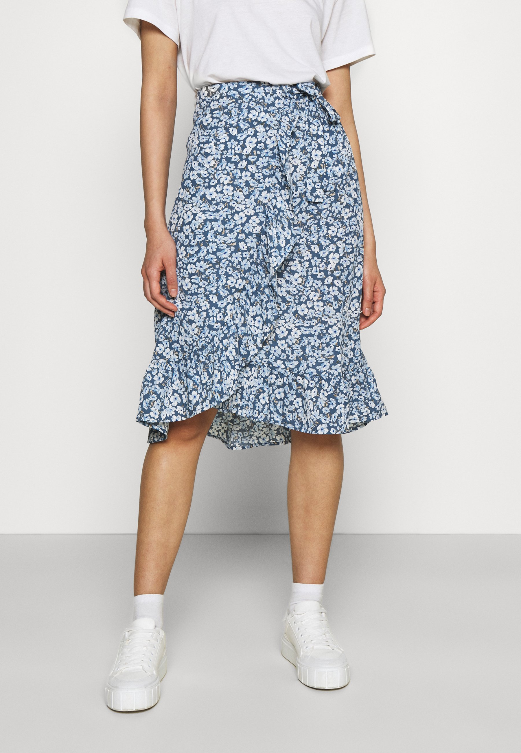 Women ONLFUCHSIA BELOW KNEE WRAP SKIRT - Wrap skirt