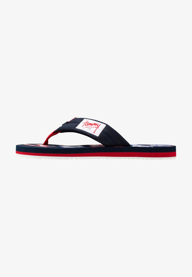 Tommy Jeans - LOGO BEACH - Sandalias de dedo - blue