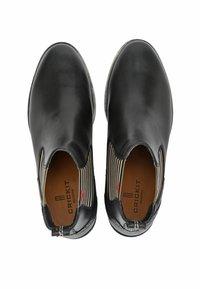 Crickit - CHELSEA BOOT SUVI MIT STREIFEN UND HERZCHEN - Classic ankle boots - schwarz - 6